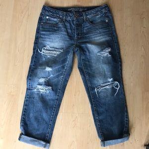 "The Perfect Boyfriend ""Boy Crop"" Jeans / Size 6"
